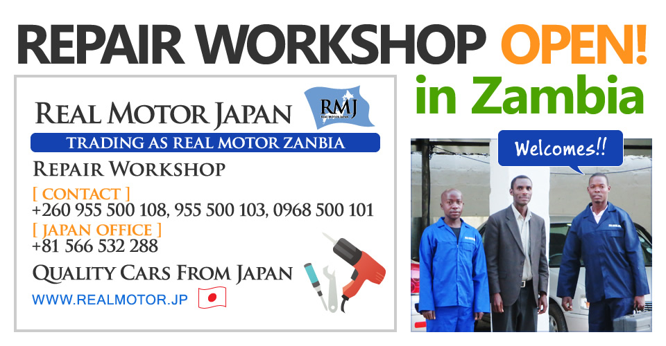 REPAIR WORKSHOP OPEN! in Zambia